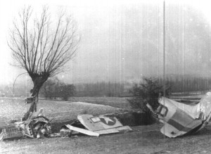 Crash Wreckage of Captain Donald R. Emerson