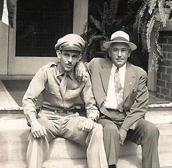 George Preddy Sr & George Preddy Jr at 605 Park 1944